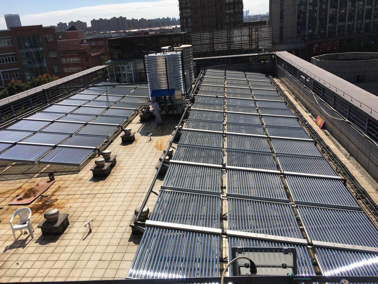 养老院太阳能-空气能联供热水工程